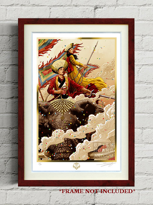 """The Trung Sisters 11""""x17"""" Limited Edition Foil Print"""