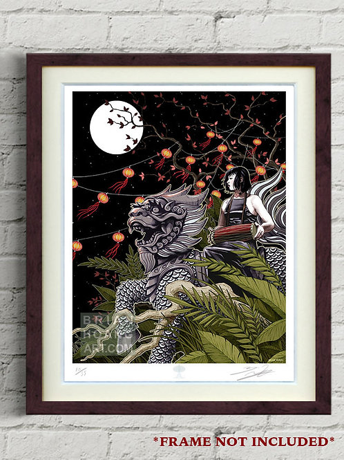 """Mythical Vietnam: The Unicorn 8.5""""x11"""" Limited Edition Foil Print"""