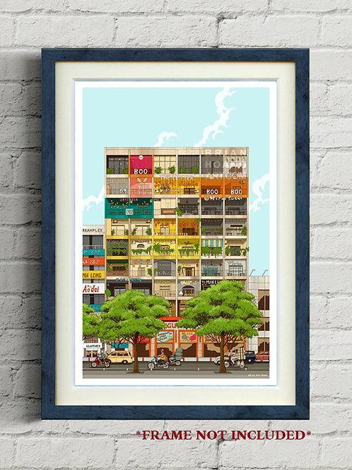 """42 Nguyen Hue (ngày) 11""""x17"""" Print"""