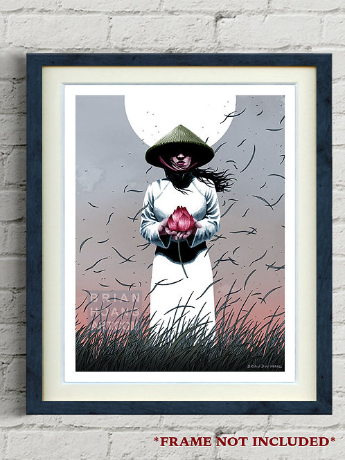 "Lotus Moon 8.5""x11"" Print"