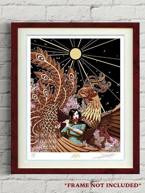 "Mythical Vietnam: The Phoenix 8.5""x11"" Limited Edition Foil Print"