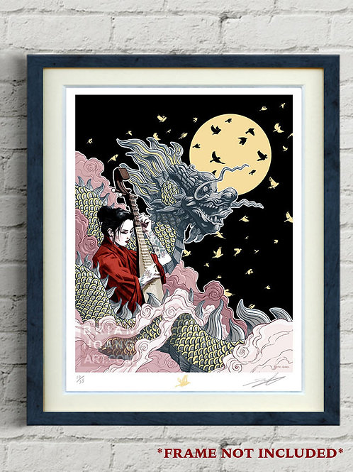 """Mythical Vietnam: The Dragon 8.5""""x11"""" Limited Edition Foil Print"""