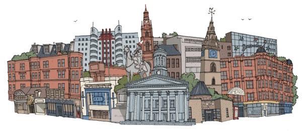 Glasgow Cityscape, David Galletly