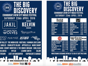 MUSIC: MUST SEE @ THE BIG DISCOVERY, EDINBURGH 23/04/2016