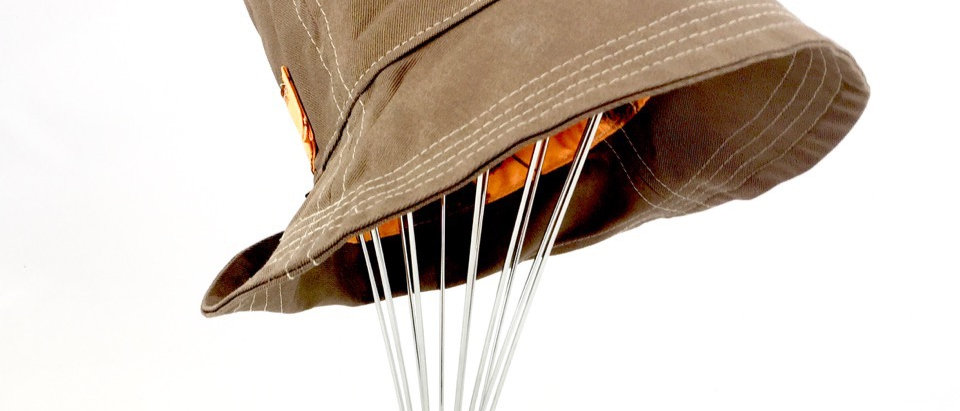 Light brown canvas retro bucket hat