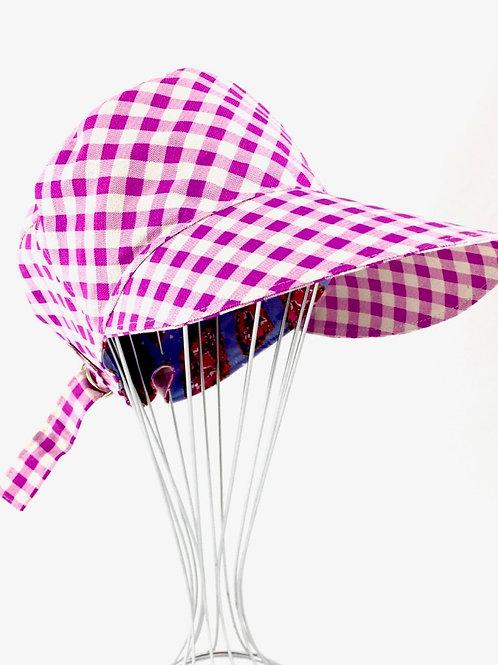 Marrakesh Gingham newsboy cap