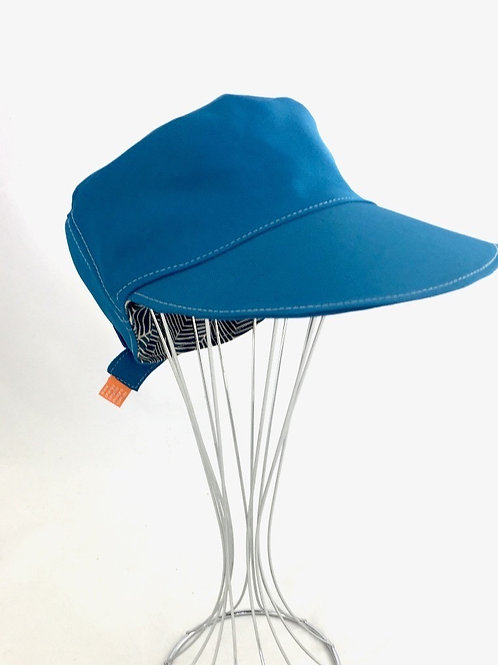 Teal Herringbone cadet cap