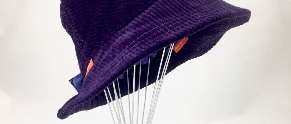 Purple corduroy retro bucket hat Australian made