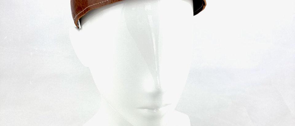 Distressed Tan leather headband