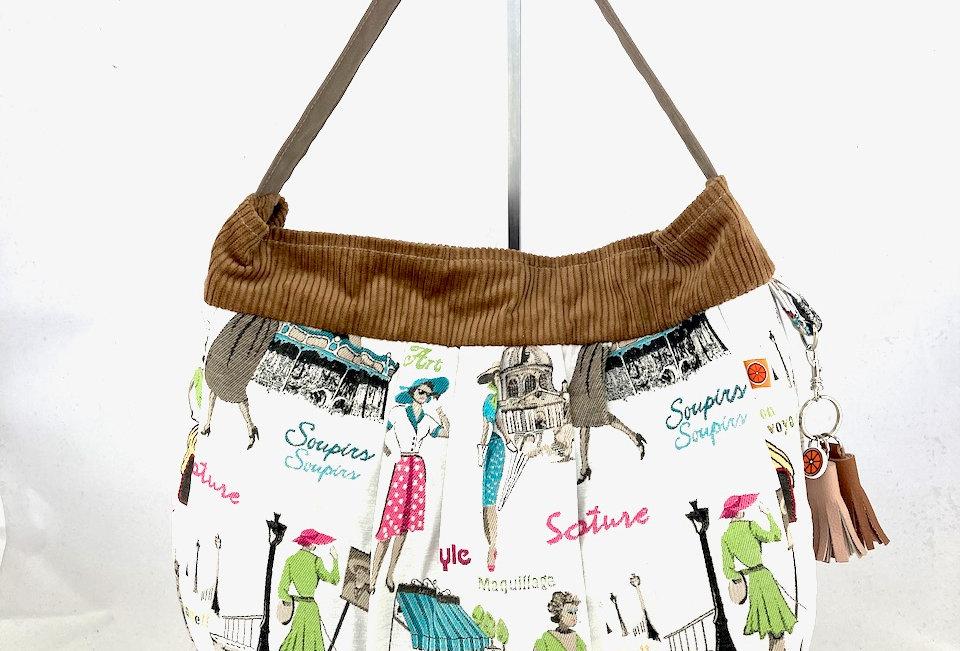 French Chic hobo bag.
