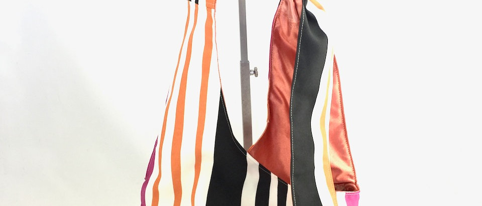 Multistripe cross body bag