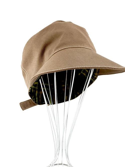 Retro reversible adjustable newsboy cap