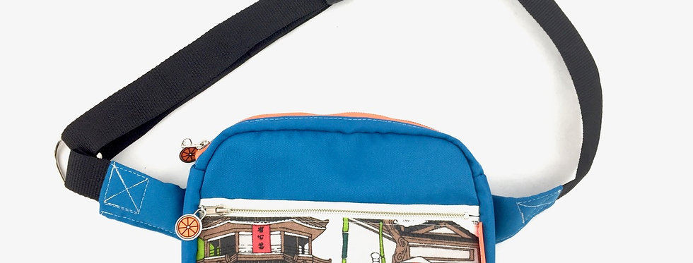 Teal blue bumbag fanny pack