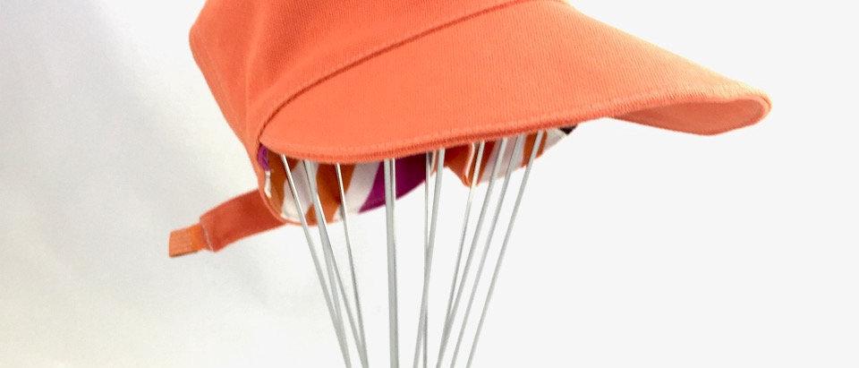 Orange Multistripe cadet cap