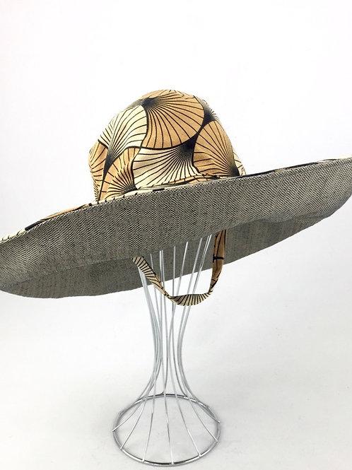 Camel Tan colours extra wide sunhat sun hat reversible