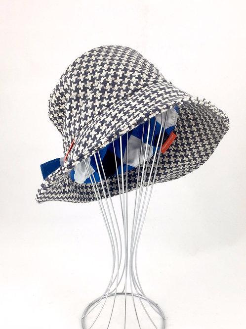 Navy tweed retro bucket hat Australian made