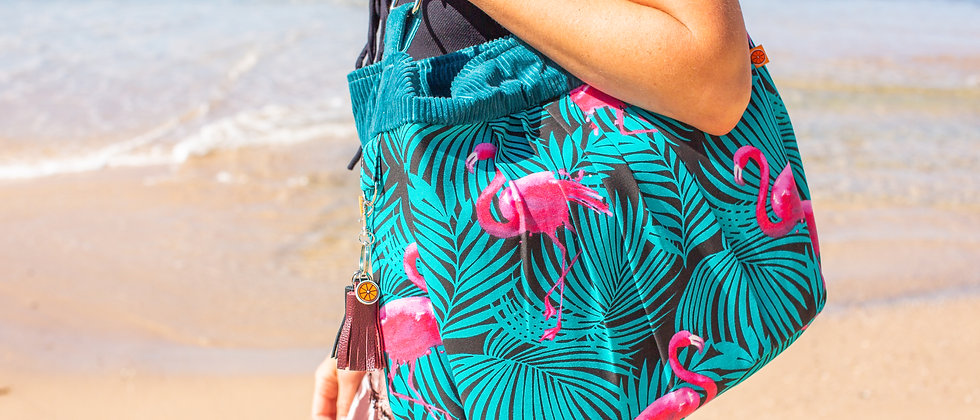 Palm Flamingo hobo bag