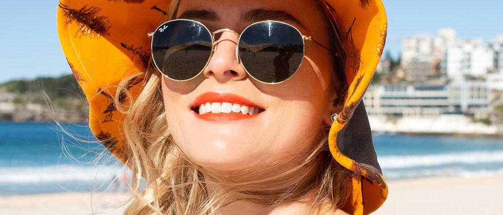 Golden Autumn floppy hat