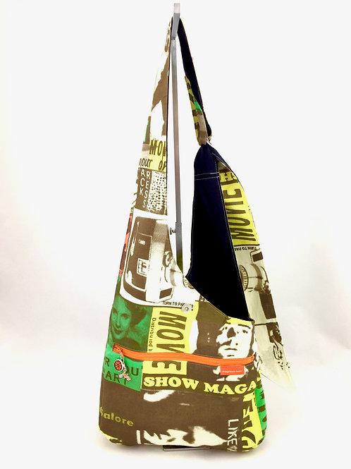 Film Print Reversible Cross Body Bag Front View