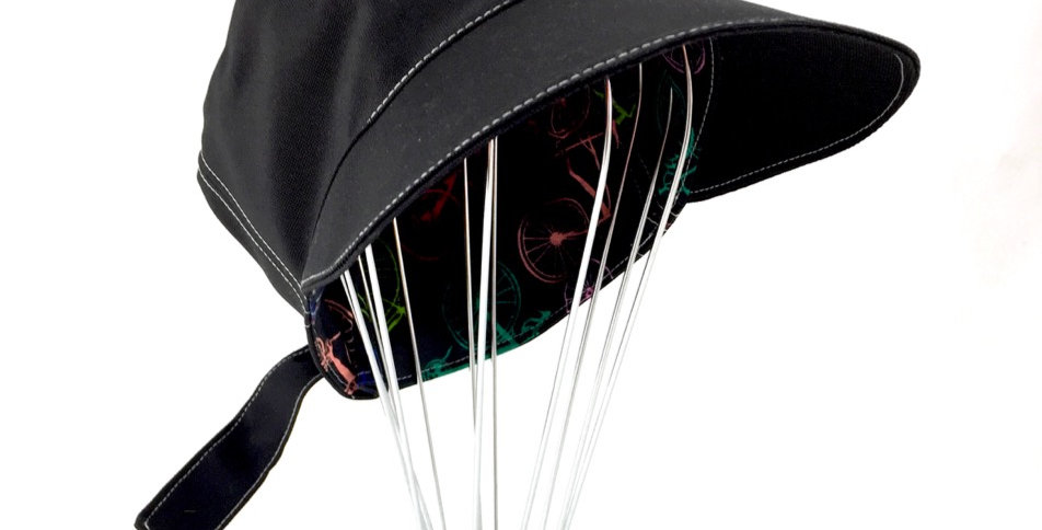 Black reversible retro  newsboy cap Australian made