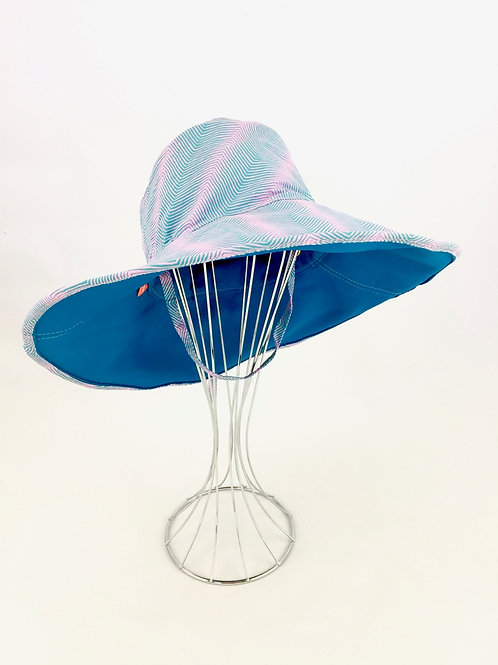 Blue teal wide brim floppy sunhat sunhat
