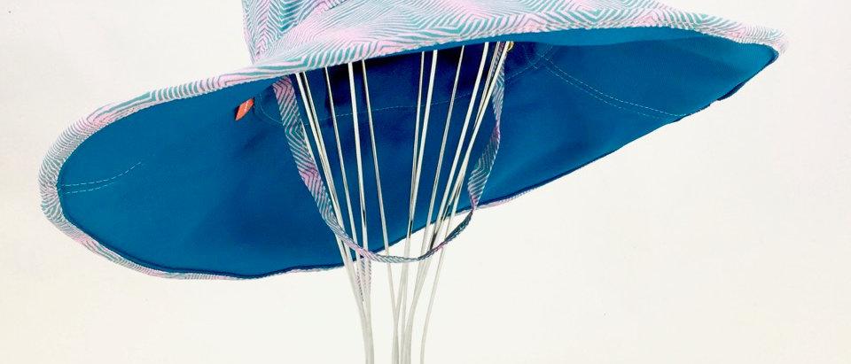 Blue teal wide brim floppy sunhat sunhat