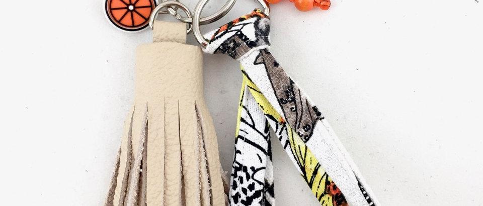 Slow Fashion Handmade Tassel Keyring
