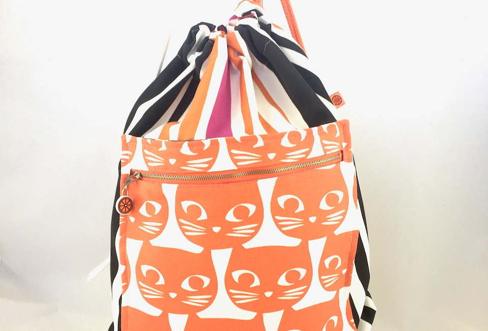 Candy Kitty drawstring bag