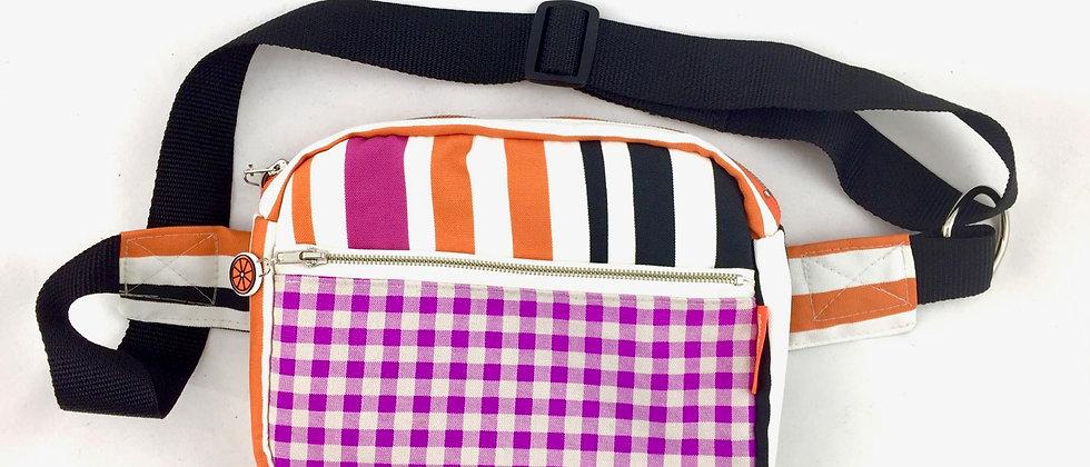 Magenta gingham bumbag bum bag fanny pack