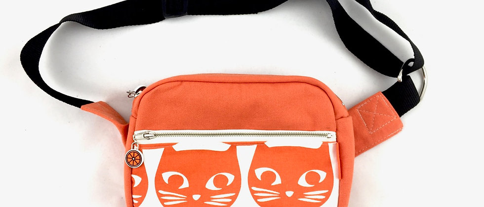 Orange bum bag bumbag fanny pack