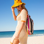 Reversible foldable floppy hat and eco swag bag