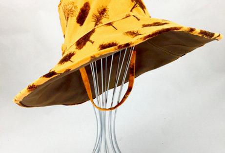Tree print reversible wide brim sunhat sun hat