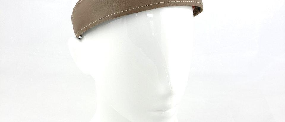 Taupe leather headband