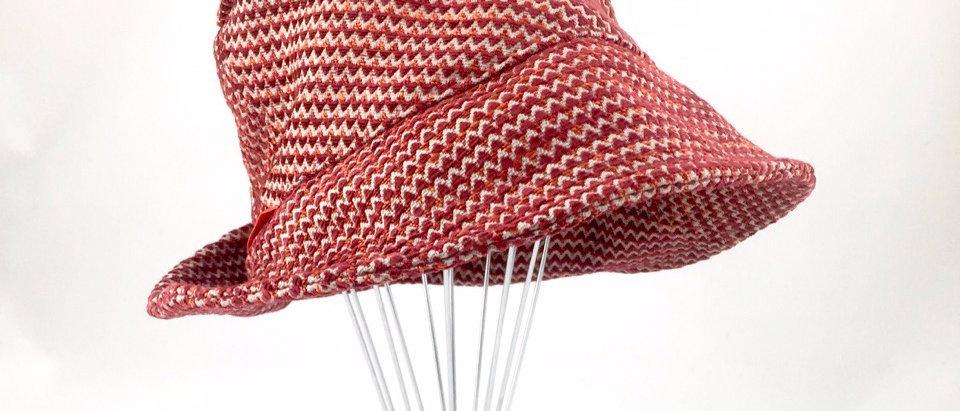 Rust red tweed retro bucket hat Australian made