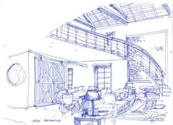 Auvergne salon vers mezz et cuisine 21 08