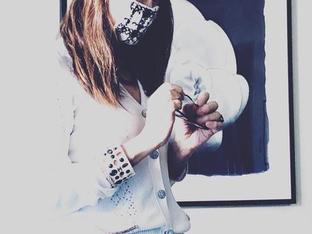 思いつき日記●アベノマスクをシャネルツイードで変身させてみたよ!