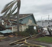 Hurricane destroyed home