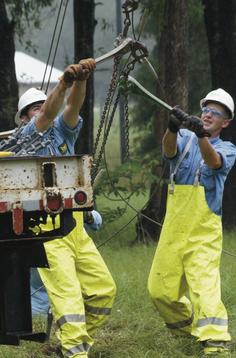 Workers helping hurricane impacted communities