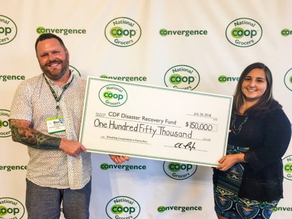 Cooperative Development Foundation and Co+op National Grocers donate relief funds