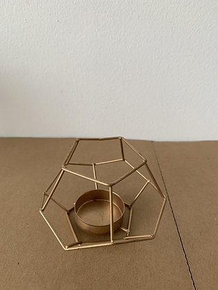 Gold Geo Small Hanging Lanterns