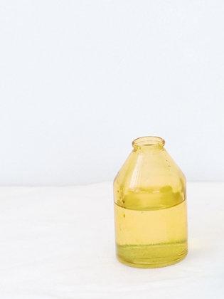 Yellow Glass Bud vase