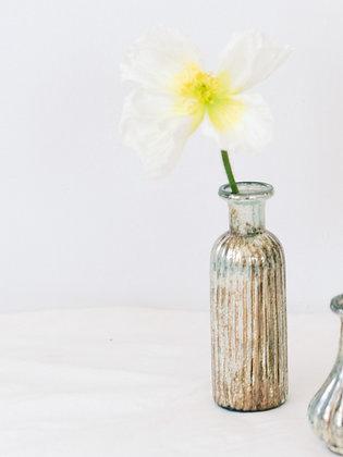 Fluted Mercury Glass Tall Bud vase