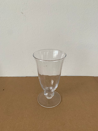 "3.5"" Glass Fluted Footed Vase"