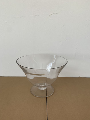 """9"""" Large Glass Footed Vase"""
