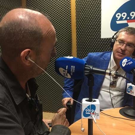 Santiago Posteguillo en 'Abierto a Mediodía' con Ramón Palomar