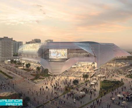 València cede la parcela para Arena por 50 años con un canon anual de 200.000 euros