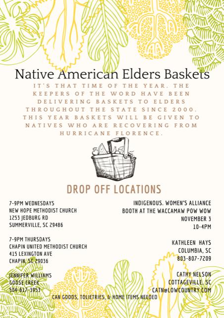 Native American Elders Baskets