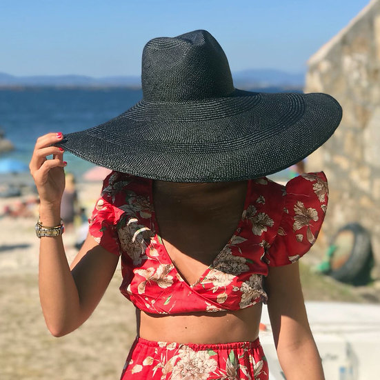 Maxi Panama Hat - Black
