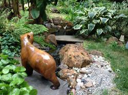Bear Over a Stream