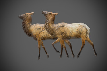 Elk Herd Reliefs - Two Cows